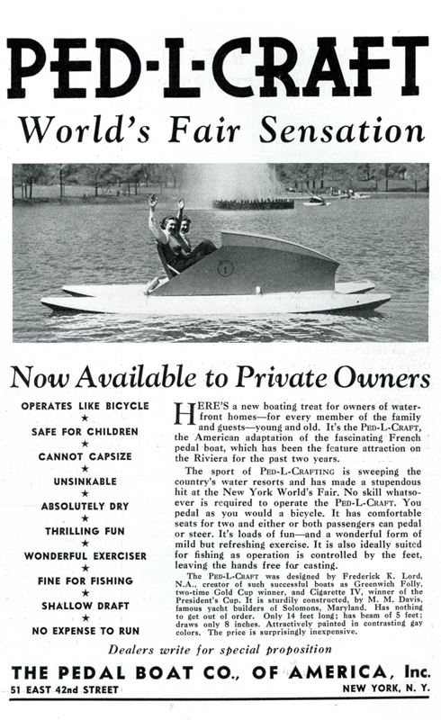 PEDL-CRAFT Ad Motor Boating July 1939