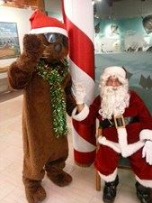 Santa and the Otter at Christmas Walk for website